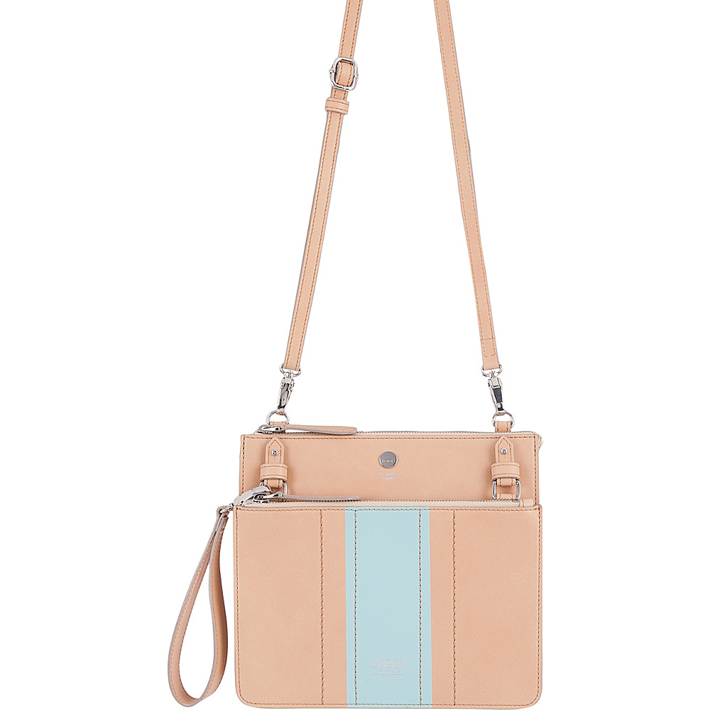 Lodis Rodeo Stripe RFID Odele Crossbody Beige - Lodis Leather Handbags - Handbags, Leather Handbags