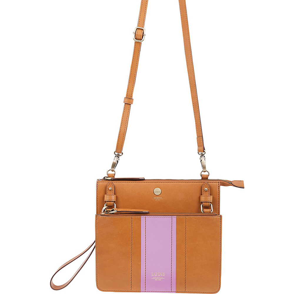 Lodis Rodeo Stripe RFID Odele Crossbody Toffee - Lodis Leather Handbags - Handbags, Leather Handbags