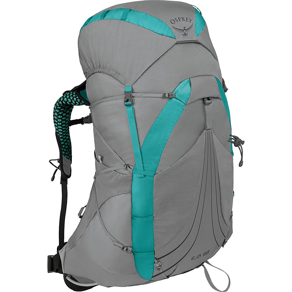 Osprey Eja 58 Hiking Backpack Moonglade Grey – SM - Osprey Backpacking Packs - Outdoor, Backpacking Packs