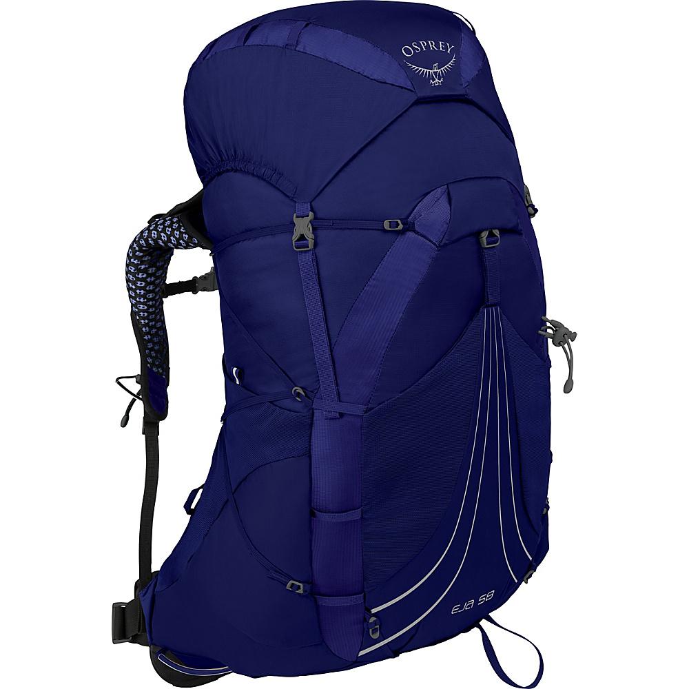 Osprey Eja 58 Hiking Backpack Equinox Blue – SM - Osprey Backpacking Packs - Outdoor, Backpacking Packs