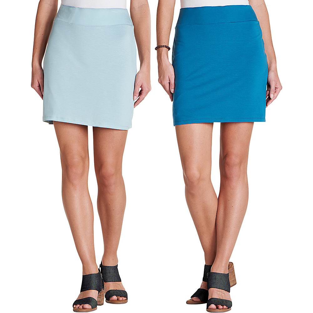Toad & Co Womens Mirror Reversible Skirt XS - Aquifer - Toad & Co Womens Apparel - Apparel & Footwear, Women's Apparel