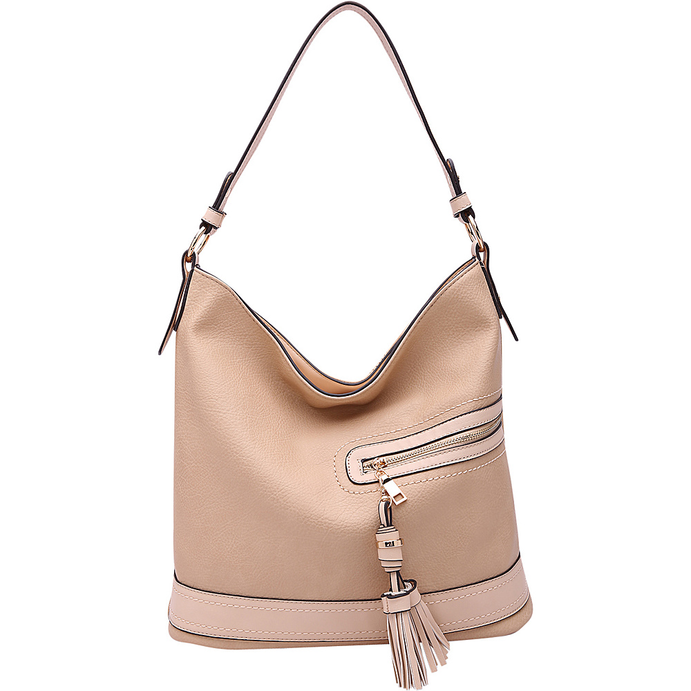 MKF Collection by Mia K. Farrow Elyza Fashion Hobo Apricot - MKF Collection by Mia K. Farrow Manmade Handbags - Handbags, Manmade Handbags