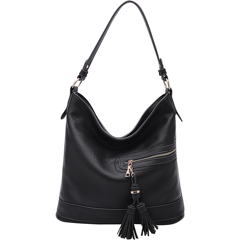MKF Collection by Mia K. Farrow Elyza Fashion Hobo Black - MKF Collection by Mia K. Farrow Manmade Handbags - Handbags, Manmade Handbags