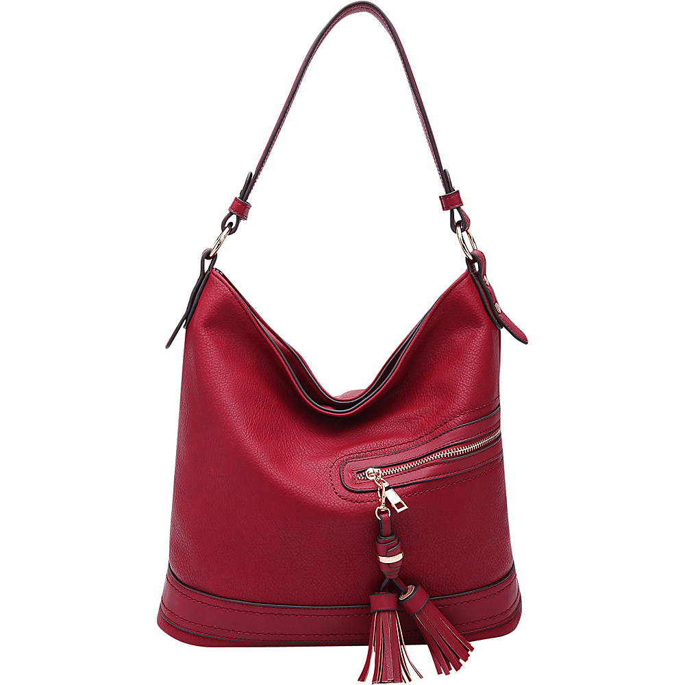 MKF Collection by Mia K. Farrow Elyza Fashion Hobo Red - MKF Collection by Mia K. Farrow Manmade Handbags - Handbags, Manmade Handbags
