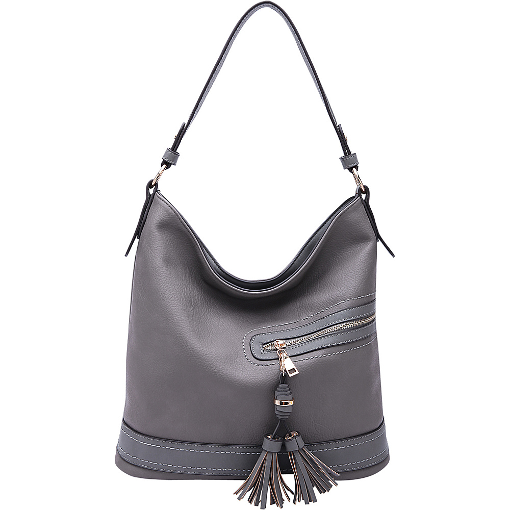MKF Collection by Mia K. Farrow Elyza Fashion Hobo Grey - MKF Collection by Mia K. Farrow Manmade Handbags - Handbags, Manmade Handbags