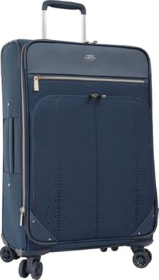 Vince Camuto Luggage Ameliah 28 inch Expandable Spinner Checked Luggage Dark Navy - Vince Camuto Luggage Softside Checked