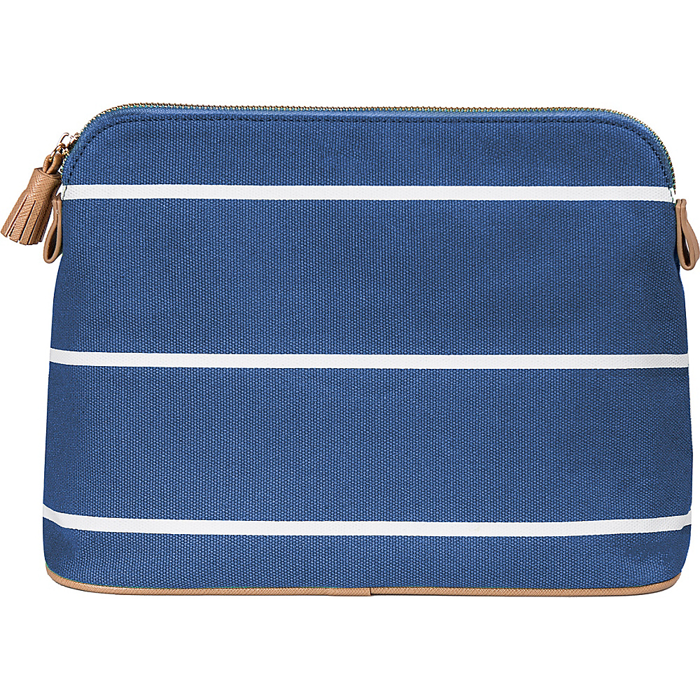 Cathys Concepts Monogram Cosmetic Bag Blue Plain - Cathys Concepts Toiletry Kits - Travel Accessories, Toiletry Kits