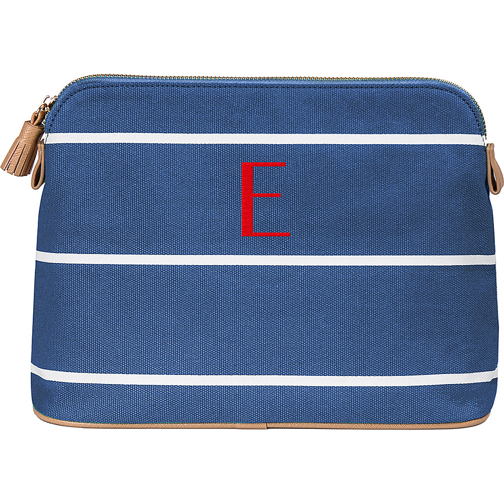 Cathys Concepts Monogram Cosmetic Bag Blue - E - Cathys Concepts Toiletry Kits - Travel Accessories, Toiletry Kits