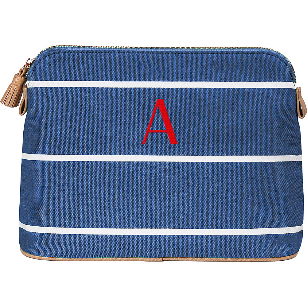 Cathys Concepts Monogram Cosmetic Bag Blue - A - Cathys Concepts Toiletry Kits - Travel Accessories, Toiletry Kits