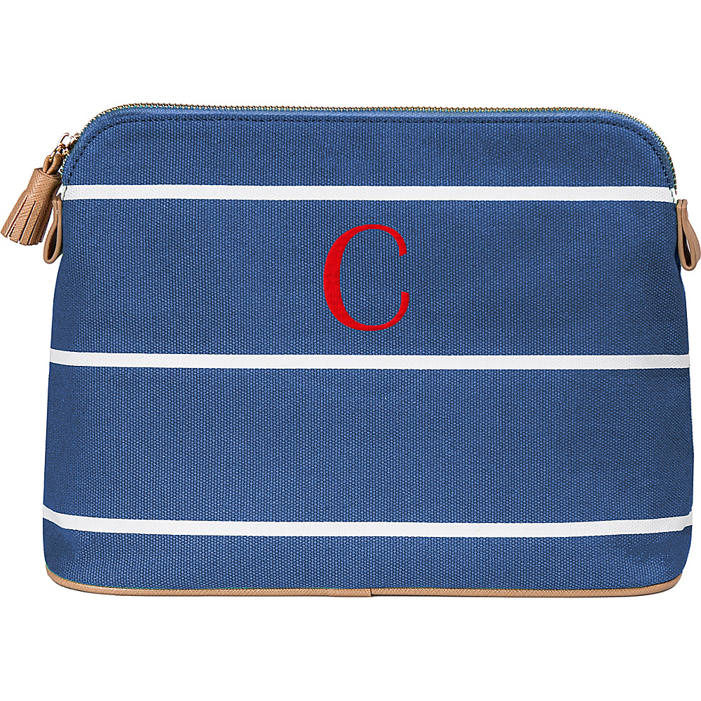 Cathys Concepts Monogram Cosmetic Bag Blue - C - Cathys Concepts Toiletry Kits - Travel Accessories, Toiletry Kits