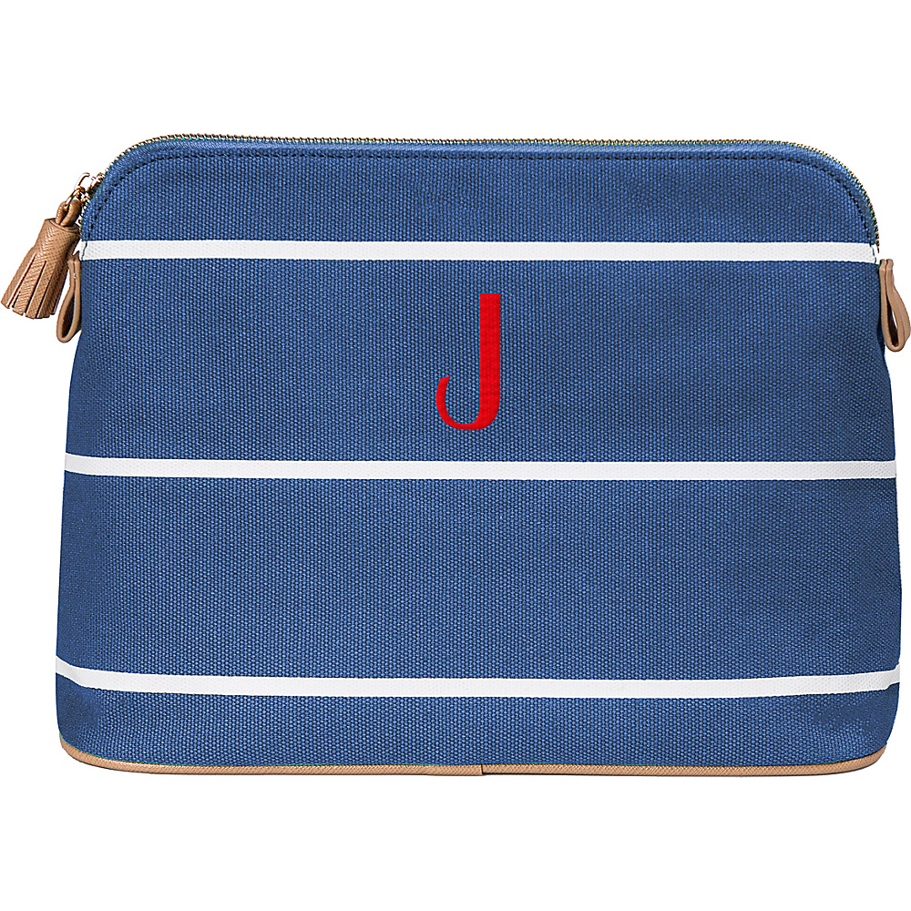 Cathys Concepts Monogram Cosmetic Bag Blue - J - Cathys Concepts Toiletry Kits - Travel Accessories, Toiletry Kits