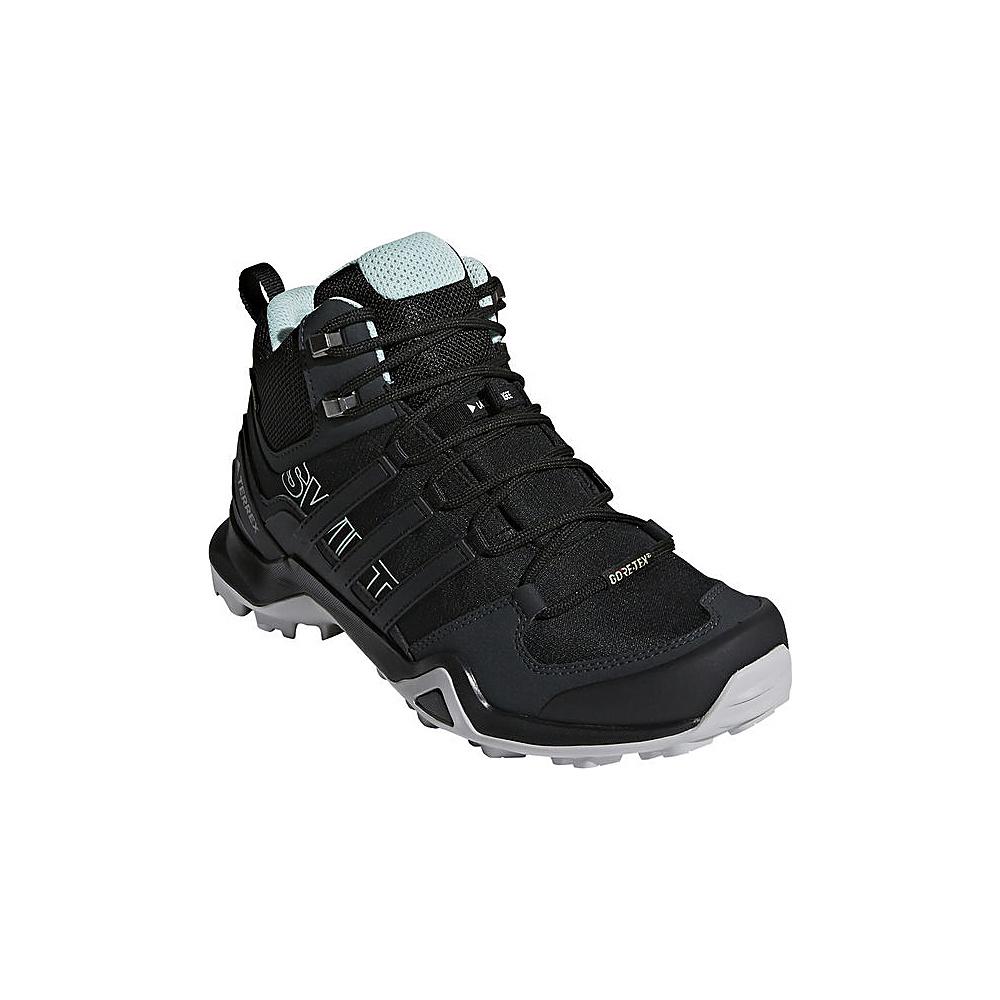 adidas outdoor Womens Terrex Swift R2 Mid GTX Shoe 5 - Black/Black/Ash Green - adidas outdoor Womens Footwear - Apparel & Footwear, Women's Footwear