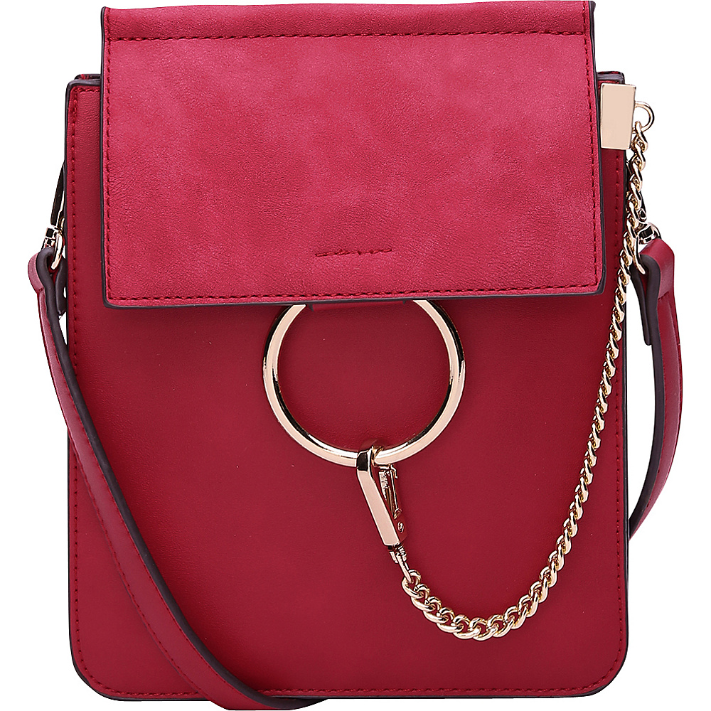 MKF Collection by Mia K. Farrow Zoey Crossbody Wine - MKF Collection by Mia K. Farrow Manmade Handbags - Handbags, Manmade Handbags