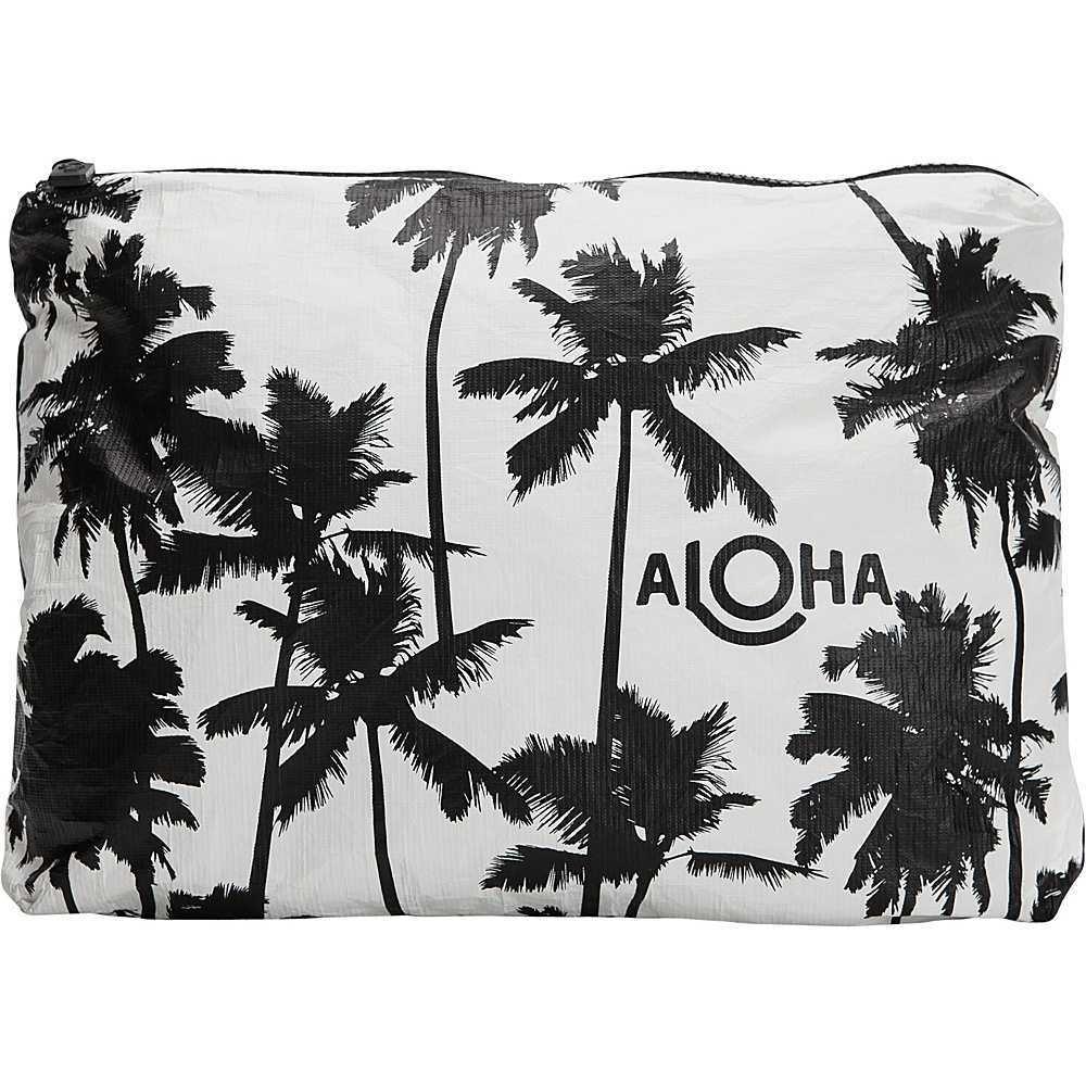 Image of ALOHA Collection Medium Wet/Dry Pouch- Coco Palms Coco Palms Black - ALOHA Collection Packable Bags
