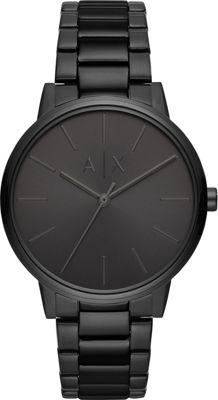 A/X Armani Exchange Men's Three-Hand Black Stainless Stee...