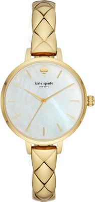 kate spade watches Metro Three-Hand Gold-Tone Stainless S...