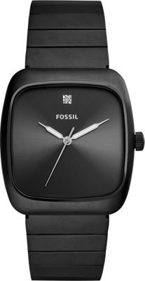 Fossil Rutherford Carbon Series Black Stainless Steel Wat...