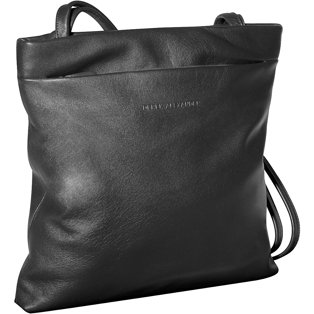 Derek Alexander Square Slim Tote - Black - Handbags, Leather Handbags