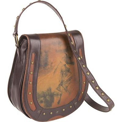 Scully Cheyenne Flap Shoulder Saddle Bag