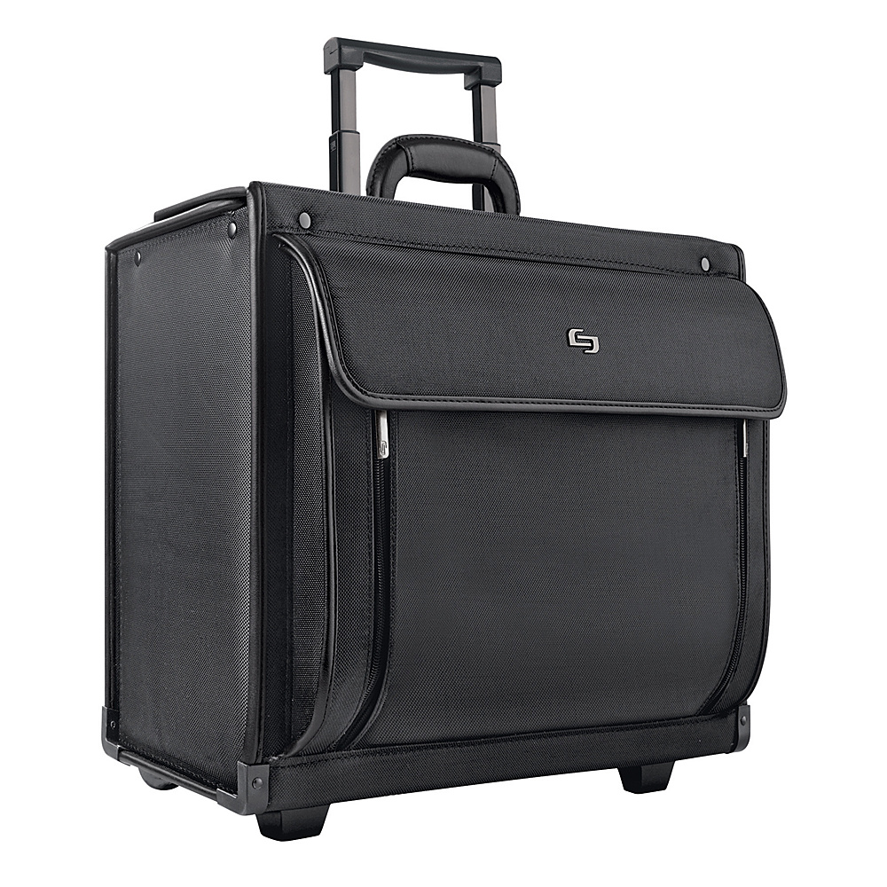 SOLO Rolling Catalog Case - Black - Work Bags & Briefcases, Wheeled Business Cases