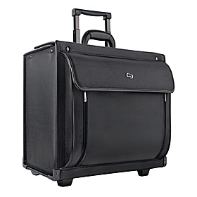 Rolling 16'' Laptop Catalog Case Black