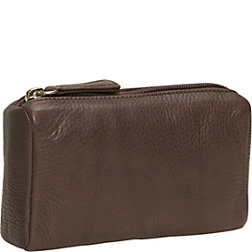 Cashmere Large Coin Purse Raisin