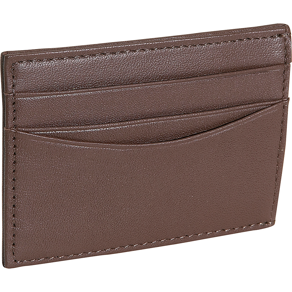 Royce Leather Magnetic Money Clip Wallet - Coco