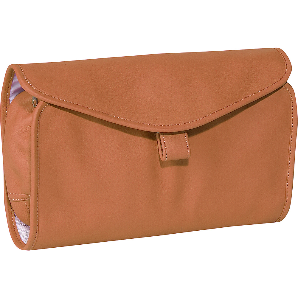 Royce Leather Hanging Toiletry Bag - Tan - Travel Accessories, Toiletry Kits