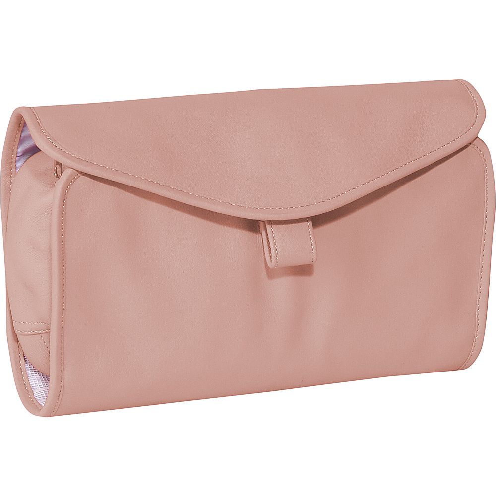 Royce Leather Hanging Toiletry Bag - Carnation Pink - Travel Accessories, Toiletry Kits