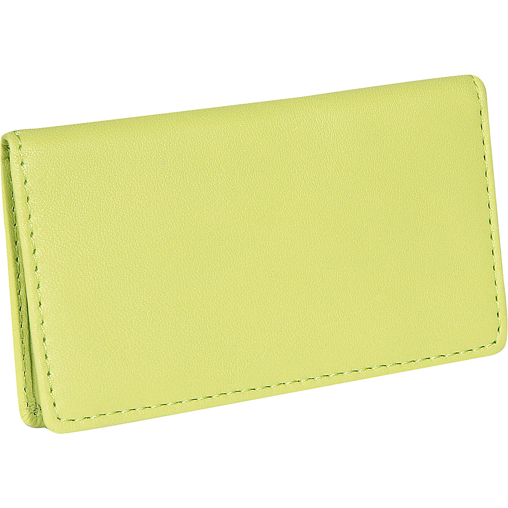 Royce Leather Business Card Case - Key Lime Green - Work Bags & Briefcases, Business Accessories