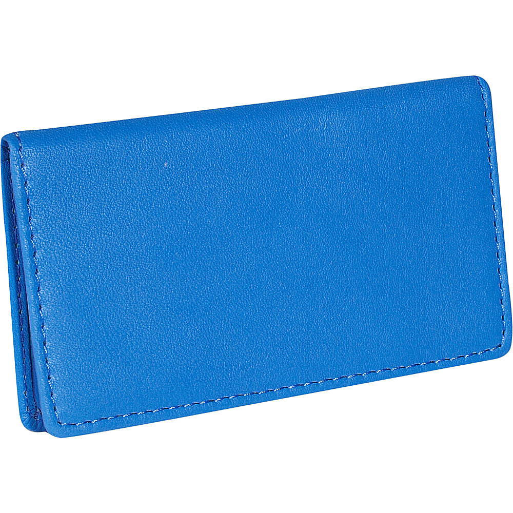Royce Leather Business Card Case - Royce Blue - Work Bags & Briefcases, Business Accessories