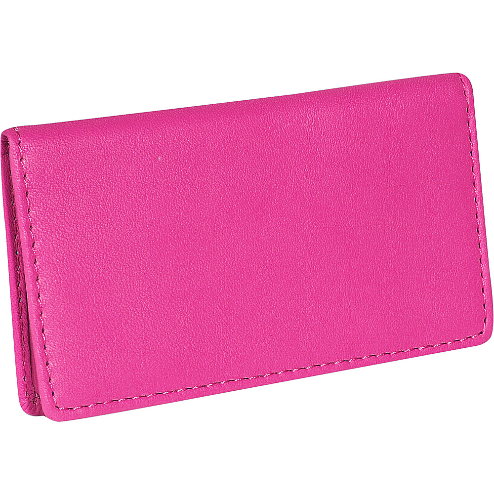Royce Leather Business Card Case - Wild Berry - Work Bags & Briefcases, Business Accessories