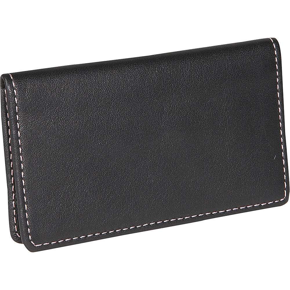 Royce Leather Business Card Case - Black - Work Bags & Briefcases, Business Accessories