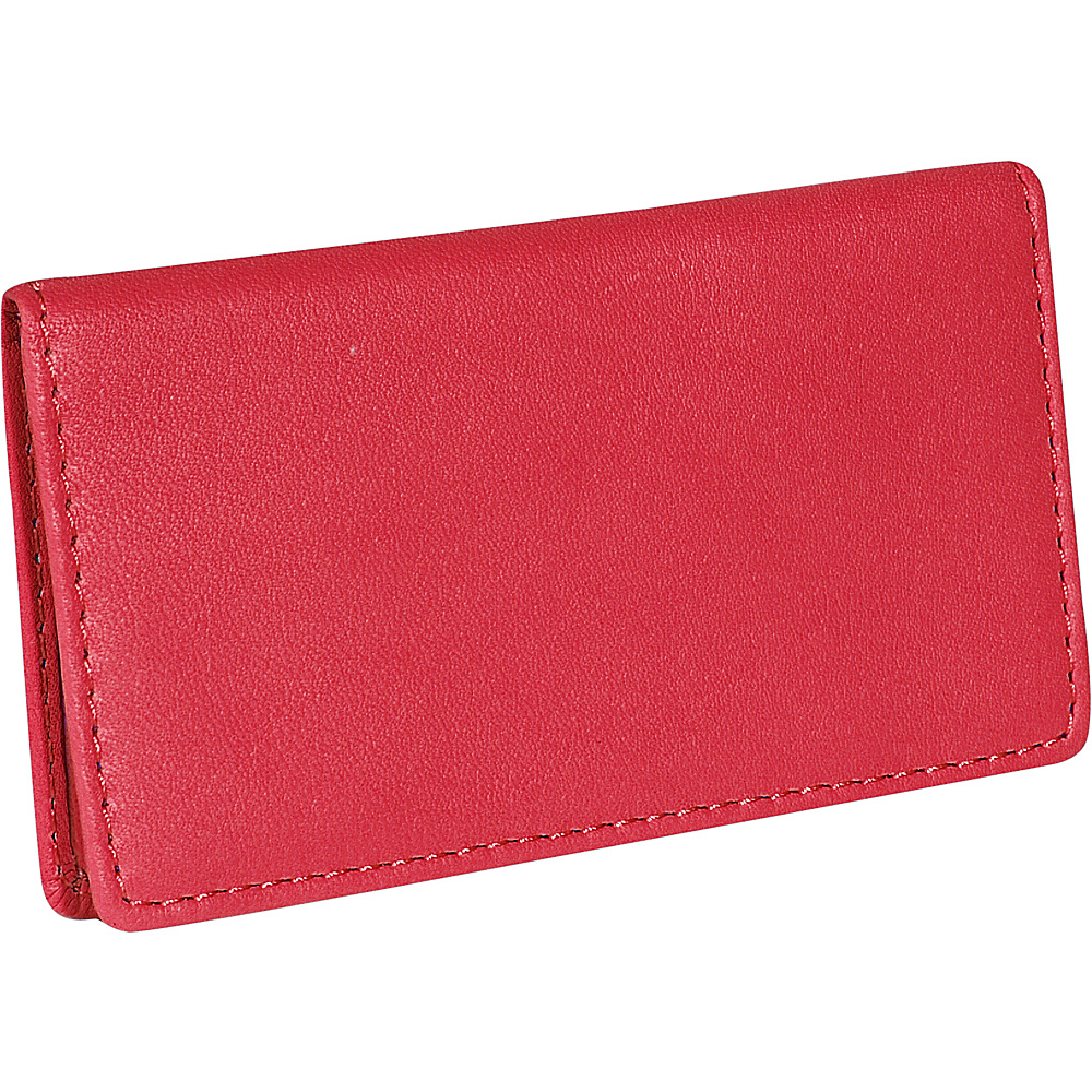 Royce Leather Business Card Case - Red - Work Bags & Briefcases, Business Accessories