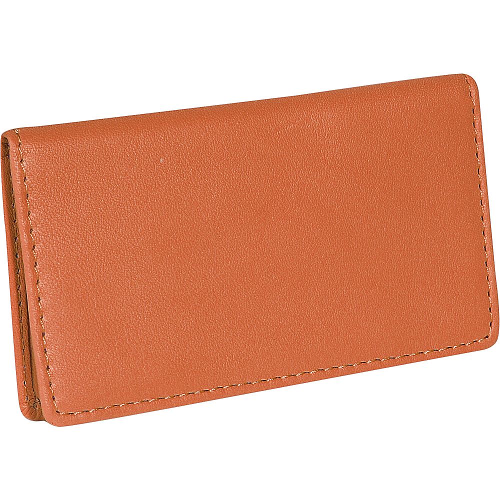 Royce Leather Business Card Case - Tan - Work Bags & Briefcases, Business Accessories