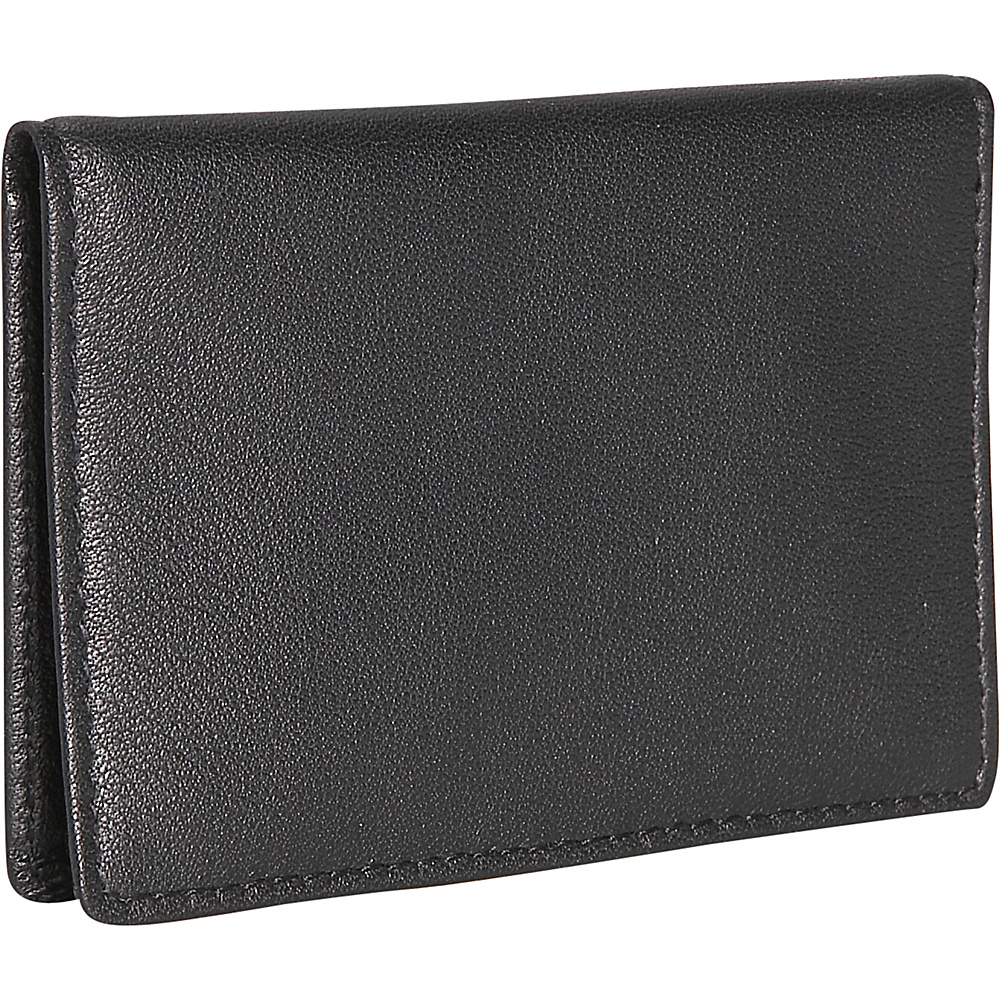 Royce Leather Mini ID Case - Black - Women's SLG, Women's Wallets