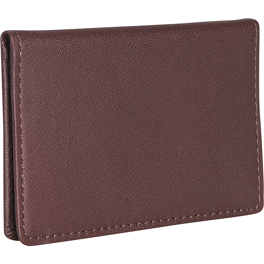 Royce Leather Mini ID Case - Burgundy - Women's SLG, Women's Wallets