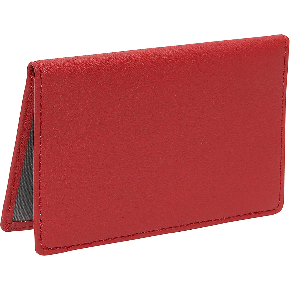 Royce Leather Mini ID Case - Red - Women's SLG, Women's Wallets