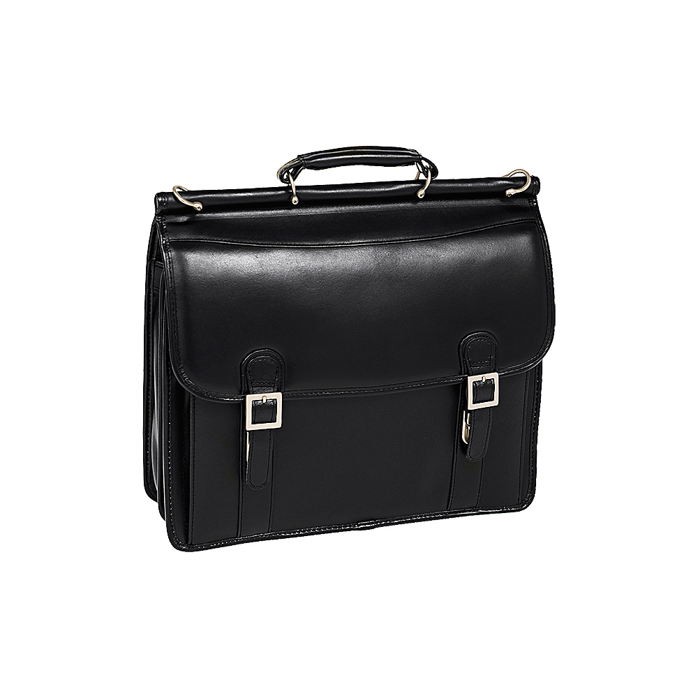 McKlein USA Halsted Leather 15.4 Laptop Case - Black - Work Bags & Briefcases, Non-Wheeled Business Cases