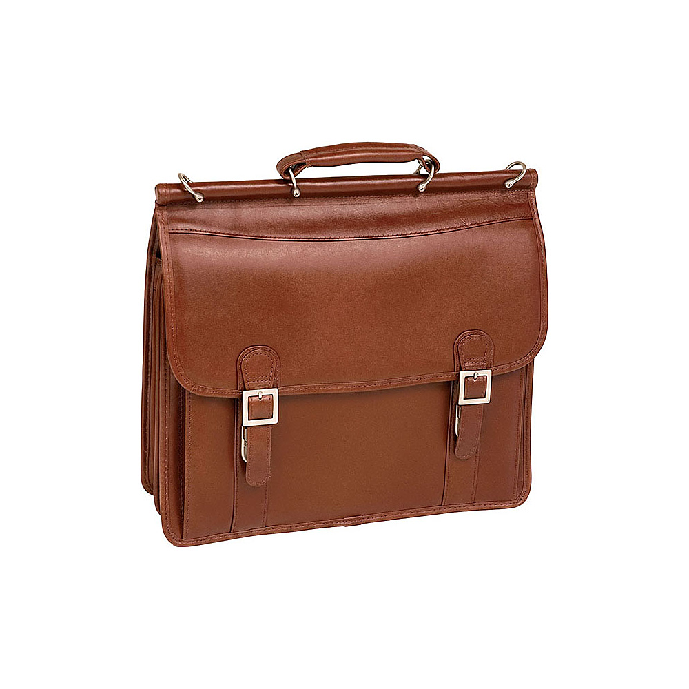 McKlein USA Halsted Leather 15.4 Laptop Case - Brown - Work Bags & Briefcases, Non-Wheeled Business Cases