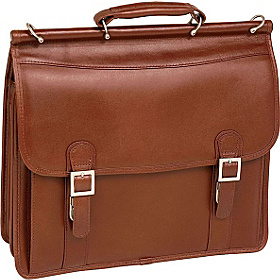 Halsted Leather 15.4'' Laptop Case Brown