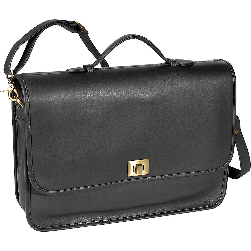 Royce Leather Executive Briefcase - Black