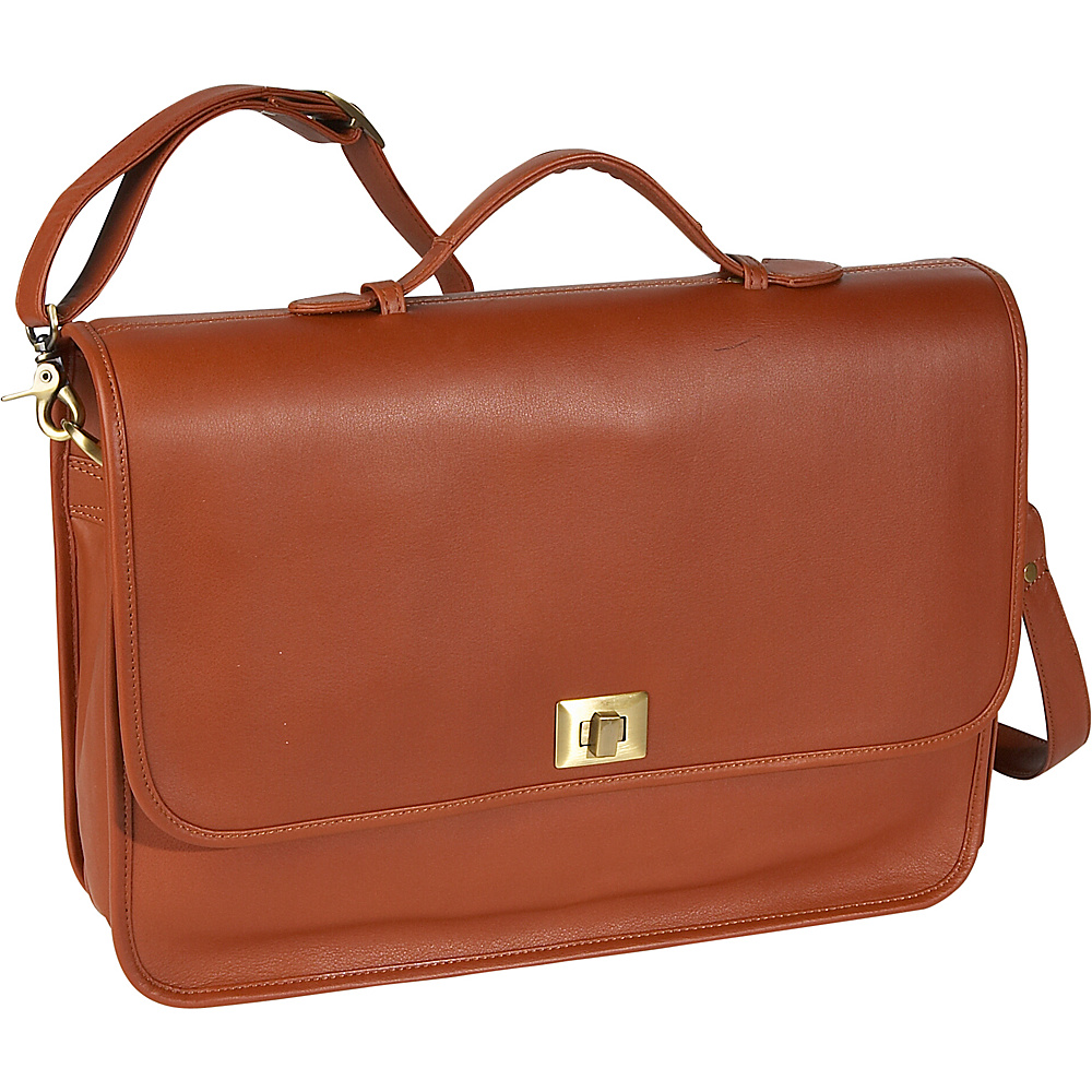 Royce Leather Executive Briefcase - Tan