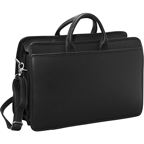 Jack Georges Platinum Triple Gusset Top Zip Black - Jack Georges Non-Wheeled Business Cases