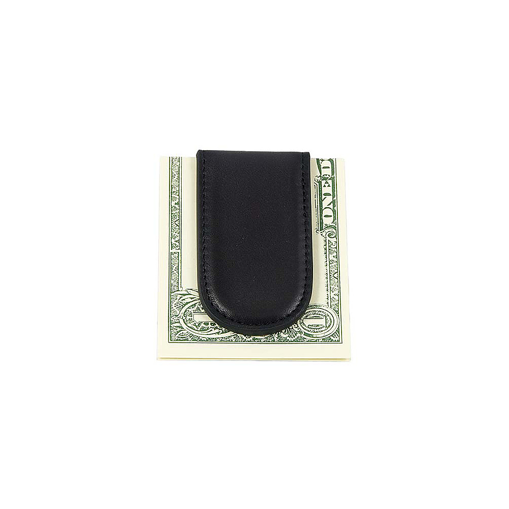 Bosca Nappa Vitello Magnetic Money Clip - Black - Work Bags & Briefcases, Men's Wallets