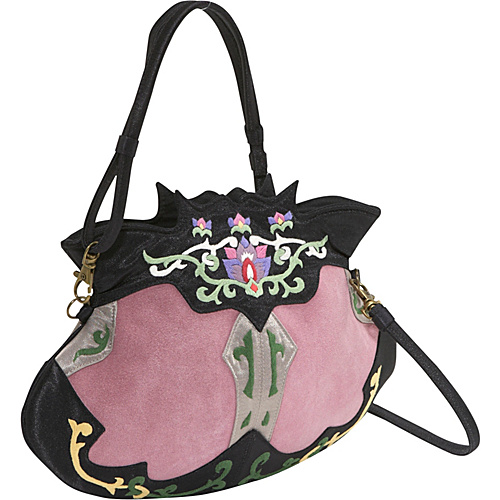 JL Lane Princess Pink / Black - JL Lane Fabric Handbags