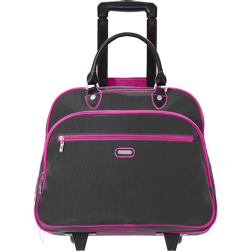 "baggallini Rolling 17"" Tote Charcoal - baggallini Softside Carry-On"