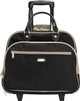 baggallini Rolling 17 inch Tote Black/Sand - baggallini Softside Carry-On