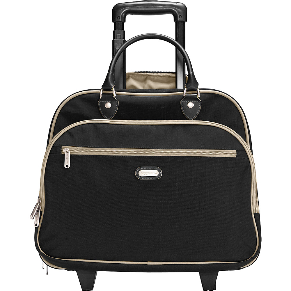 "baggallini Rolling 17"" Tote Black/Sand - baggallini Softside Carry-On"