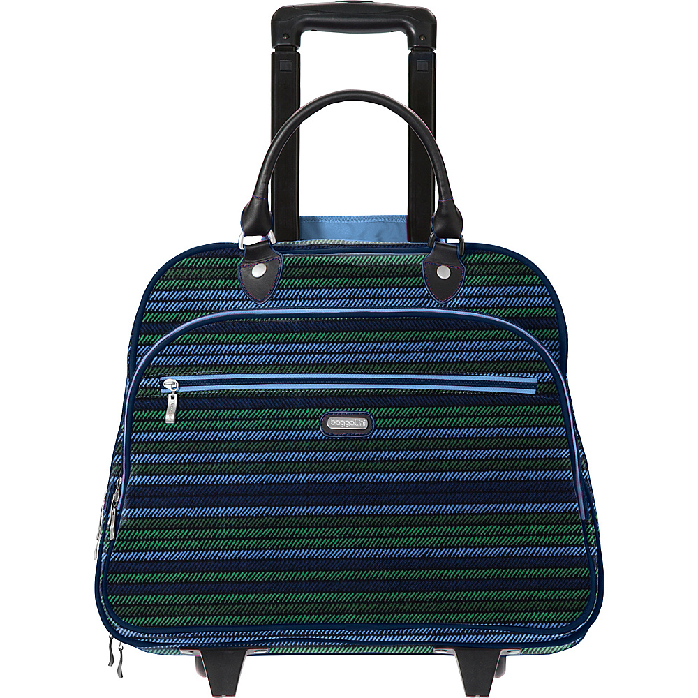 baggallini Rolling 17 Tote Moss Stripe Multi - baggallini Softside Carry-On - Luggage, Softside Carry-On